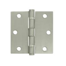 "Deltana SS35B-R 3-1/2"" x 3-1/2"" Square Corner Ball Bearing Stainless Steel Hinge"
