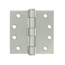 "Deltana SS44-R 4"" x 4"" Square Corner Stainless Steel Hinges (Pair) 0.085"" gauge"