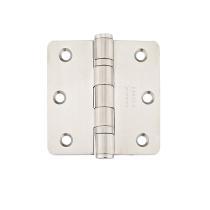 Emtek 3 1/2 x 3 1/2 Stainless Steel Radius Corner Ball Bearing Hinge 9842332D