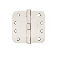 Emtek 4 x 4 Stainless Steel Radius Corner Residential Duty Hinges 9813432D