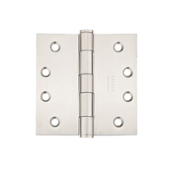 "Emtek 4"" x 4"" Stainless Steel Square Corner Residential Duty Hinges 9811432D"