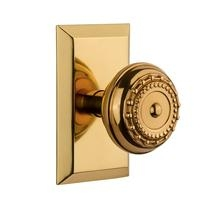 Nostalgic Warehouse Studio Plate with Meadows Knob Polished Brass
