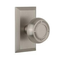 Nostalgic Warehouse Studio Plate with Mission Knob Set Satin Nickel