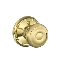 Schlage F170 Geo Dummy Polished Brass 605