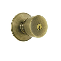 Schlage F80 Bel Keyed Entry Antique Brass 609