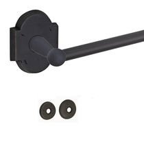 Fusion Rock Ridge Towel Bar with Sandcast Brass Scalloped Oil Rubbed Bronze
