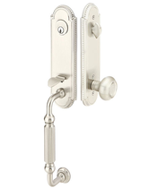 Emtek 4311 Orleans Handleset with Belmont Knob Satin Nickel (US15)
