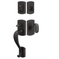 Emtek 451711 Laramie Handleset with Egg Knob Flat Black Patina (FB)