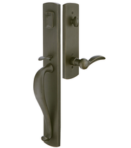 Emtek 451913 Creston Handleset with Durango Lever Medium Bronze Patina (MB)