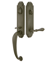 Emtek 471222 Octagon Handleset with Octagon Lever Medium Bronze Patina (MB)