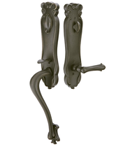 Emtek 471333 Art Nouveau Handleset with Art Nouveau Lever Medium Bronze Patina