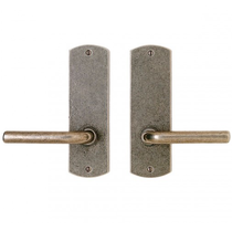 """Rocky Mountain 2-1/2"""" x 8"""" Curved Escutcheon with choice of Knob or Lever"""