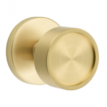 Emtek Modern Verve Door Knob Set with Disk Rose in Satin Brass