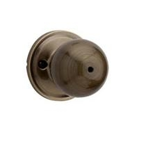 Weiser GA331HT Privacy 5 Antique Brass