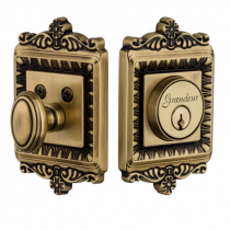 Grandeur Windsor Single Cylinder Deadbolt Vintage Brass (VB)
