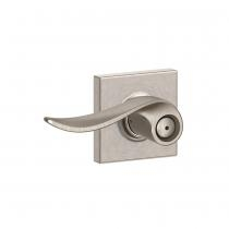 Schlage F40-SAC-COL Sacramento Privacy Door Lever Set with Collins Rose