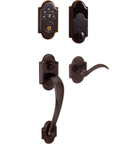 Baldwin Keyless Boulder Handleset with Beavertail Lever Venetian Bronze (112)