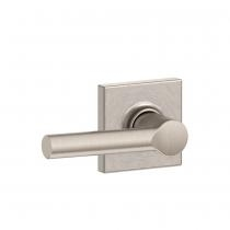 Schlage F10-BRW-COL Broadway Passage Door Lever Set with Collins Rose