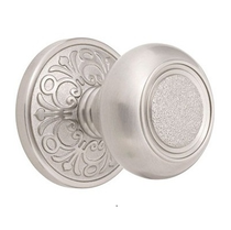 Emtek Belmont Door knob with Lancaster rose Satin Nickel (US15)