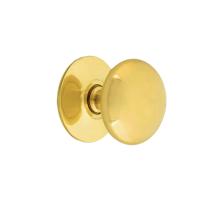 Nostalgic Warehouse CKBCLS Brass Cabinet Knob Polished Brass (PB)