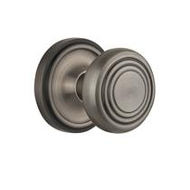 Nostalgic Warehouse CLADEC Deco Knob Set with Classic Rose Antique Pewter