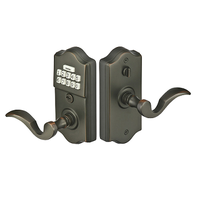 Emtek Keypad Brass Leverset w/ Cortina Lever Oil Rubbed Bronze (US10B)