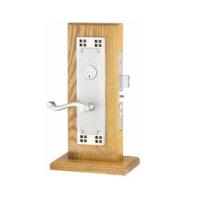 Emtek Craftsman Mortise Entrance Lockset with Rope Lever Satin Nickel