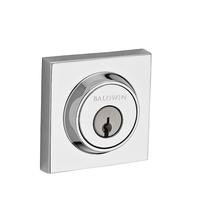 Baldwin Reserve Contemporary Square Deadbolt shown in Polished Chrome (260)