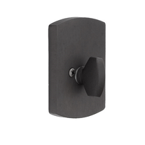 Emtek 8574 #4 Style Single Sided Deadbolt Flat Black Patina (FB)