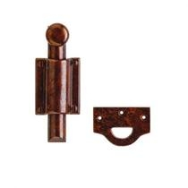 "Rocky Mountain (DDB7) 6"" Dutch Door Bolt with Rectangular Mounting Brackets"