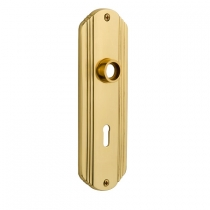 Nostalgic Warehouse Deco Plate With Keyhole Privacy Function Polished Brass (PB)