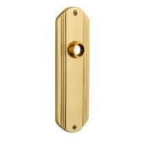 Nostalgic Warehouse Deco Plate Without Keyhole Passage Function Polished Brass