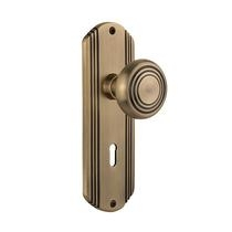 Nostalgic Warehouse Deco Backplate with Deco knob Antique Brass (AB)