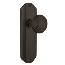 Nostalgic Warehouse Deco Backplate with Deco Knob Oil Rubbed Bronze (OB)