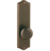 "Emtek 8711, 8811, 8851 Colonial 9"" Non Keyed Sideplate with Providence Knob"