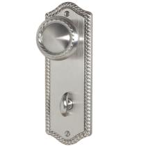Emtek 8223 Rope Thumbturn Privacy Sideplate Satin Nickel (US15)
