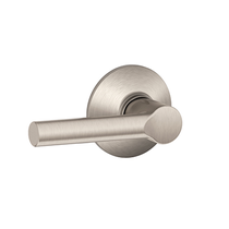 Schlage F10-BRW Broadway Passage Door Lever Set Satin Nickel