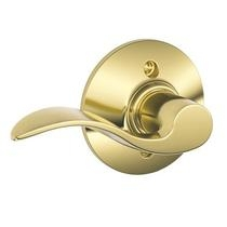 Schlage Accent f170 acc Dummy 605 Polished Brass