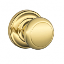 Schlage F170-AND-AND Andover Single Dummy Door Knob with Andover Rose (605)