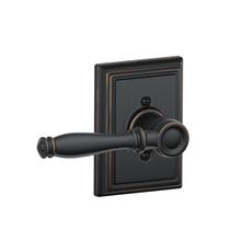 Schlage F170BIR716ADD Birmingham Single Dummy Door Lever Set with Addison Rose
