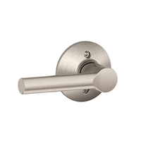 Schlage F170-BRW Broadway Single Dummy Door Lever Satin Nickel