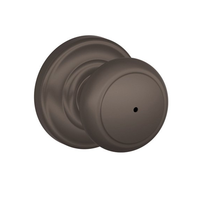 Schlage F40-AND-AND Andover Privacy Door Knob Set with Andover Rose (613)
