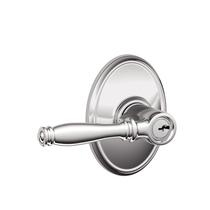 Schlage Birmingham Lever with Wakefield Rose in Bright chrome