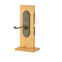 Emtek Hamilton Mortise Entrance Lockset with Rope Lever Oil Rubbed Bronze
