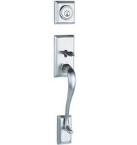 Weiser Hawthorne Handleset shown in Satin Chrome (26D)