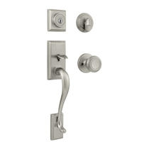 Kwikset Hawthorne Handlest shown with Cameron Knob in Satin Nickel (15)