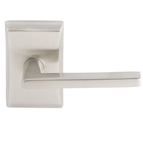 Emtek Helios Door Lever Set with Neos Rosette in Satin Nickel (US15)