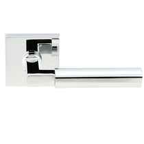 Emtek Brass Hercules Door Lever Set with Square Rose Polished Chrome (US26)