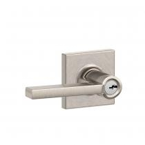 Schlage F51A-LAT-COL Latitude Keyed Entry Door Lever Set with Collins Rose