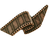 Emenee LU1235 Film Reel Cabinet Knob in Old World Copper (OWC)